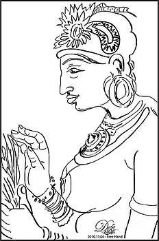 Sigiri Apsara by Deepthi Jayakody