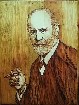 Sigmund Freud portrait by Bob Renaud