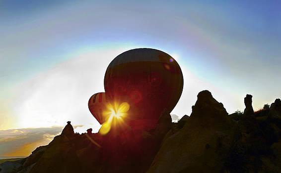 Kantilal Patel - Silhouette Balloons Peaks Sunrise