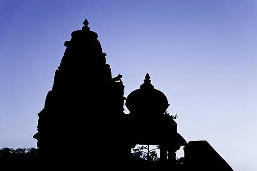 Kantilal Patel - Silhouette of Jain and Hindu Temple