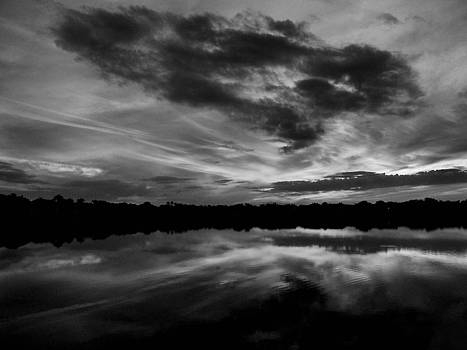 Sinister Sky-Black And White by Bill Lucas