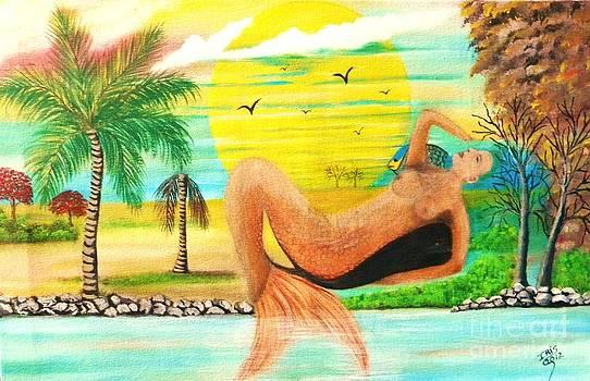 Sirena Boricua by Iris  Mora