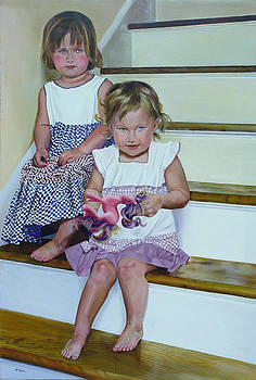 Sisters on Stairs by Mark McKain