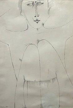 Jerzy Nowosielski - Sitting Nude