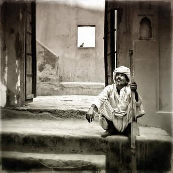 Sitting on Stairs by Mostafa Moftah