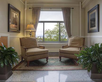 Sitting Room 1927 Lodge.  Dating by Douglas Orton