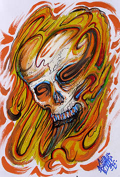 Skull Fire by Sam Hane