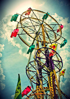 Sky Wheel Carnival Ride by Eye Shutter To Think Prints