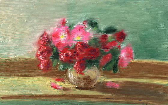 Small Roses by Bernadette Kazmarski