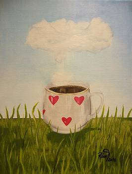 Smell of coffee rises to the sky by Beata Rosslerova