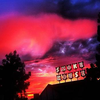 Smoke House At Sunset by Adam McCall