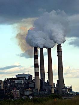 Smokestacks at Dusk by Jo Sheehan