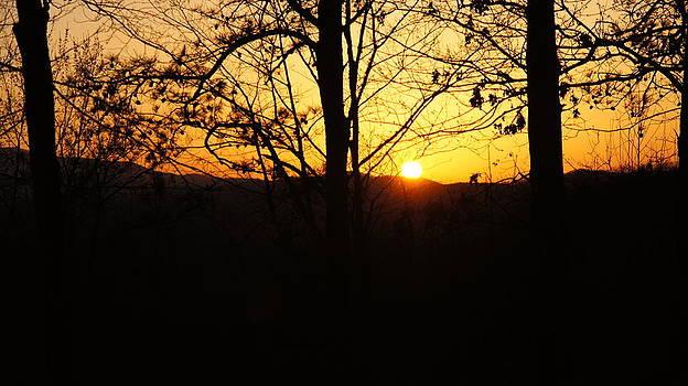 Smokey Mountains Sunset by Cathy Adams