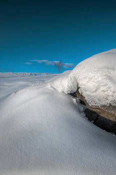 Snow Drift on Stanage Edge by Andy Astbury
