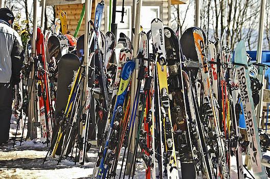 Snow Skis at Resort by Susan Leggett