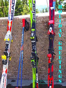 Snow Skis Mt. Hood Oregon by Glenna McRae