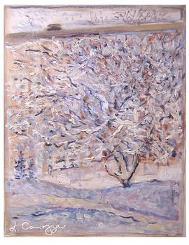 Snow Tree Study by Elizabeth Carrozza