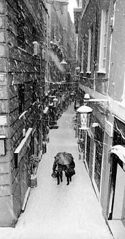 Snowfall in Genoa by Andrea Gabrieli