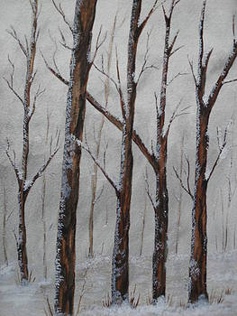 Snowfall In The Forest by Ginny Youngblood