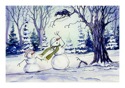 Peggy Wilson - Snowmen and Crow