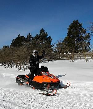 Snowmobiling Above Mancos by FeVa  Fotos