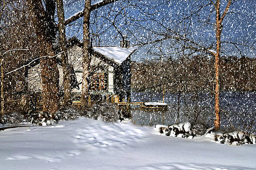 Snowy Evening on the Lake by Cecil Fuselier