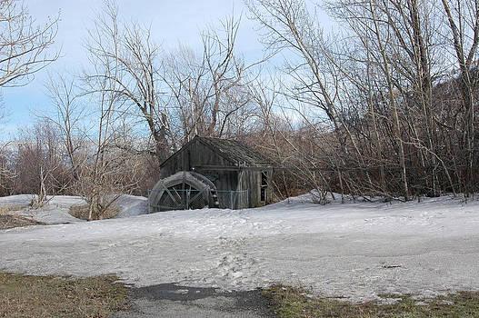 Snowy Waterwheel by Wanda Jesfield