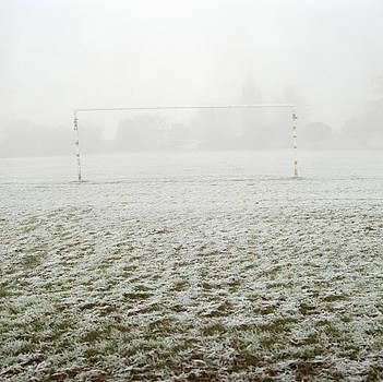 Soccer Goal In Frosty Field by Laurie Castelli