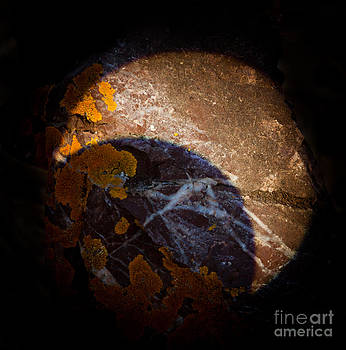Solar Eclipse on Rock by Sean Duan
