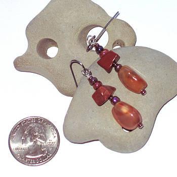 SOLD  Earthtone Earrings by Elizabeth Carrozza