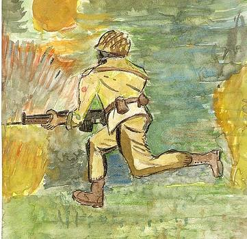 Soldier at war  by Danish Anwer