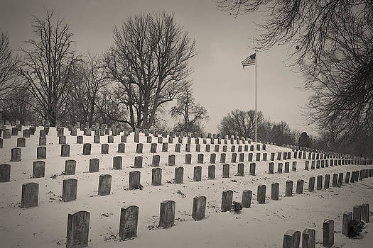 Soldiers at Crown Hill in Winter by Don Krajewski