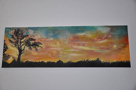 Sonnenuntergang Landschaft by Bahaneh Ovis-Schatzl