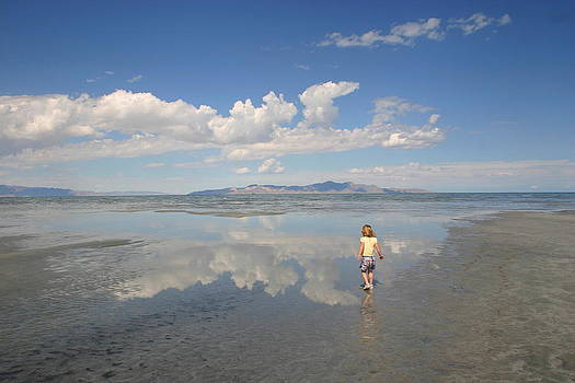 South shore of the Salt Lake by L J Penrod