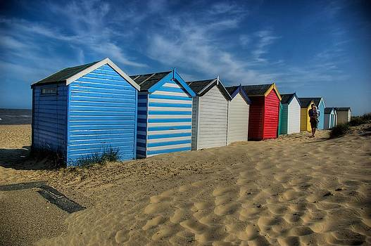 Southwold Beach Huts by Tim Kahane