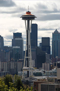 Space Needle - Galaxy Gold Top by Michael Merry