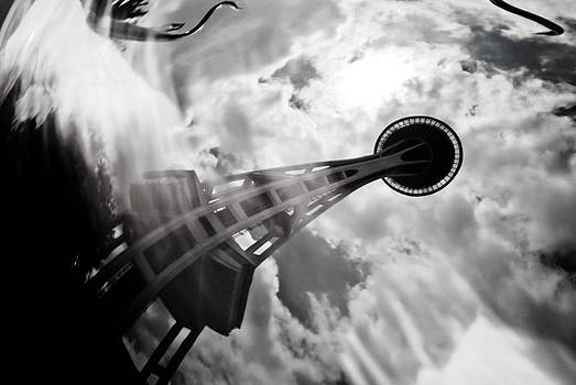 Space Needle - Reflection by Kimberly Deverell