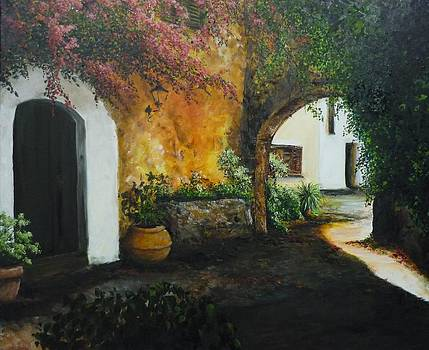 Spanish Patio by Lizzy Forrester