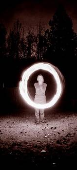 Spinning Fire Poi by Katherine Huck Fernie Howard