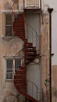 Spiral Staircase - Athens by Susan OBrien