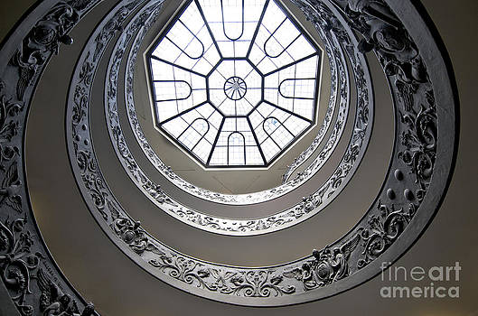 BERNARD JAUBERT - Spiral staircase in the Vatican Museums
