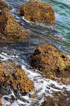 Splashing the rocks by Zahid Mian