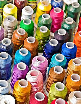 Spools of Thread by Susan Leggett