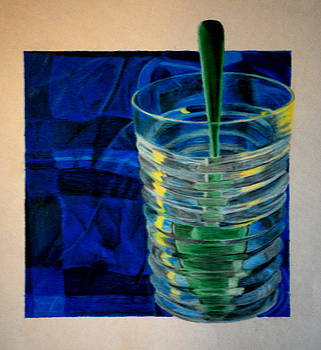 Spoon in Glass of Water by Leslie Ann Hammer