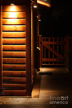 Simon Bratt Photography LRPS - Spot light lodge at night with space for sign