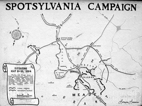 Spotsylvania Campaign Map by Lorraine Louwerse