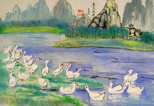 Spring bath by Lian Zhen