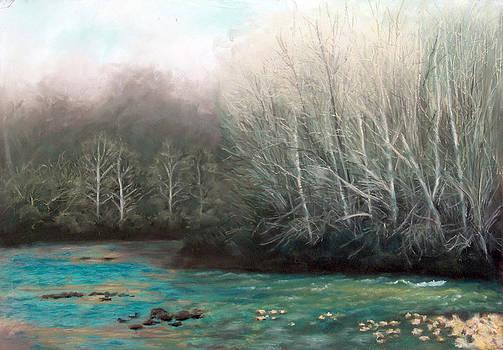 Spring Comes to a Bend in the Creek by Bernadette Kazmarski