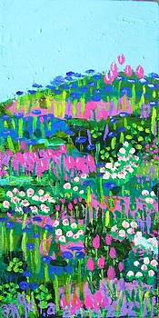 Spring Garden on A HIll by Angela Annas