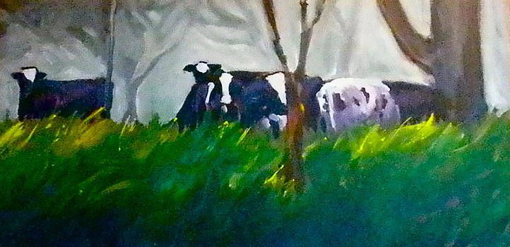 Spring Grazing by Paula Strother